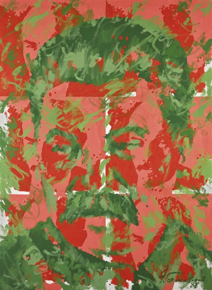 Eduard Gorochovsky UNTITLED (STALIN WITH SIX LENINS), 1988.Jpeg