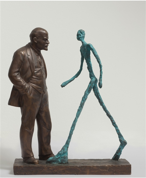 Leonid Sokov. Lenin and Giacometti, 1989.Jpeg