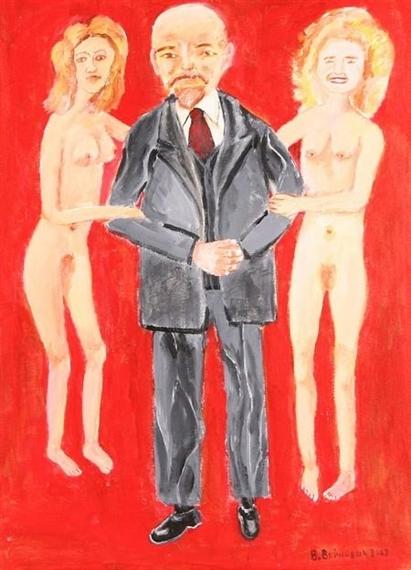 Vladimir Voinovich Lenin with Nudes, 2009.Jpeg