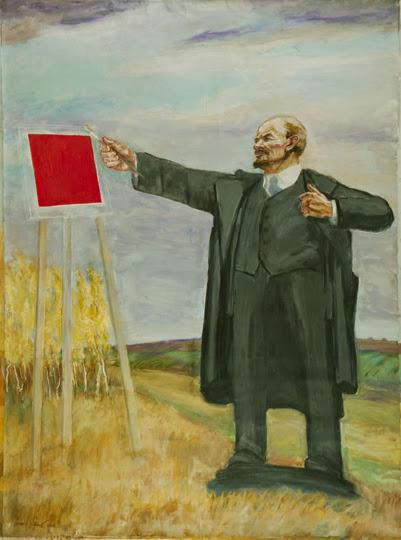 Leonid Sokov. «Ленин пишет красный квадрат», 2000.jpg