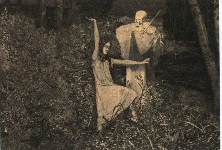Dance from the series the Girl and Death (1902) by August Brömse, Aquatint, 18 x 25.3 cm. National Gallery Prague.jpg