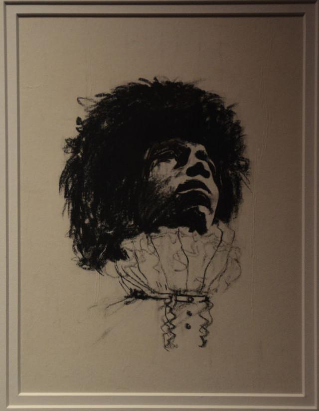 Jimi Hendrix – Sketch by Freddie Mercury.jpg