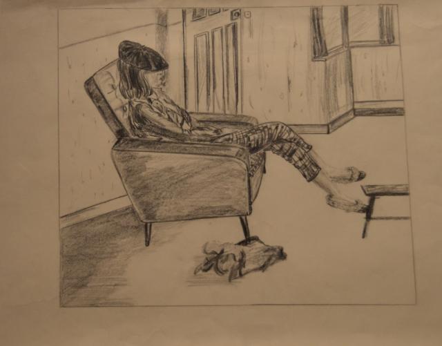 Kashmira Bulsara (Freddie's sister) – Sketch by Freddie Mercury.jpg