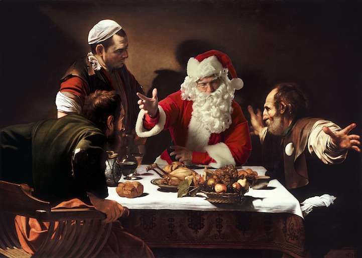 Рождественские пародии на шедевры живописи