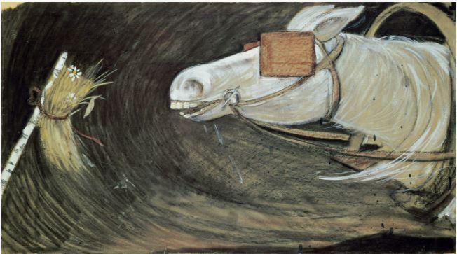 И. Глазунов. Лошадь. 1962.JPG