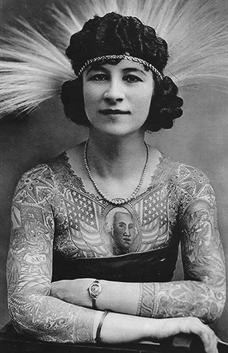 Жена татуировщика, 1905 год. И другие удивительные фотографии. 3f70cabf304d9f1408e9a2ce12c4a47f.jpg