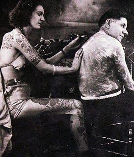 Жена татуировщика, 1905 год. И другие удивительные фотографии. 06b7838b5a3859bb823068e6aa7e71eb.jpg