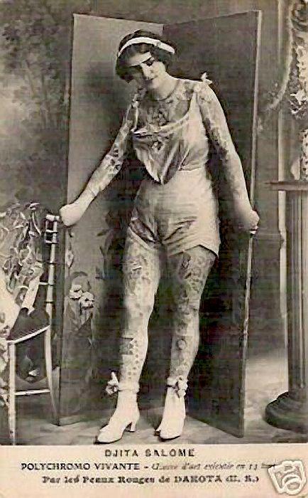 Жена татуировщика, 1905 год. И другие удивительные фотографии. 392fed12e9669b20560ecb385b2e227a.jpg