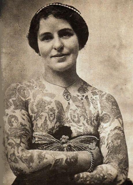 Жена татуировщика, 1905 год. И другие удивительные фотографии. 4583f0a29d33f9baed9e2f9a08b63a3b.jpg