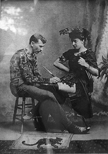 Жена татуировщика, 1905 год. И другие удивительные фотографии. d2833a9a248966e13a005fb6ebc24111 (1).jpg