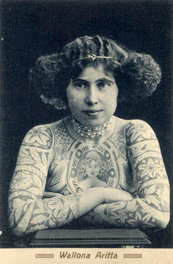 Жена татуировщика, 1905 год. И другие удивительные фотографии. ed2e55011a78a64b2c7a1d5d9ad63bd9.jpg