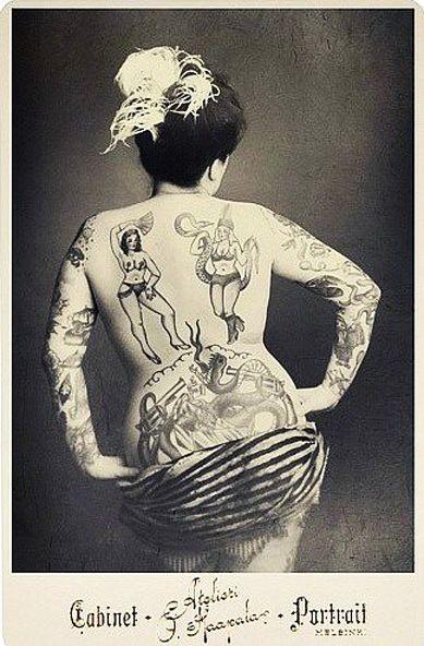 Жена татуировщика, 1905 год. И другие удивительные фотографии. f77d3d145d4bafa52aeadc905c174a43.jpg