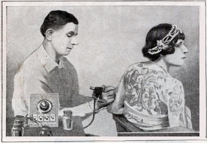 Жена татуировщика, 1905 год. И другие удивительные фотографии. Revive3.jpg