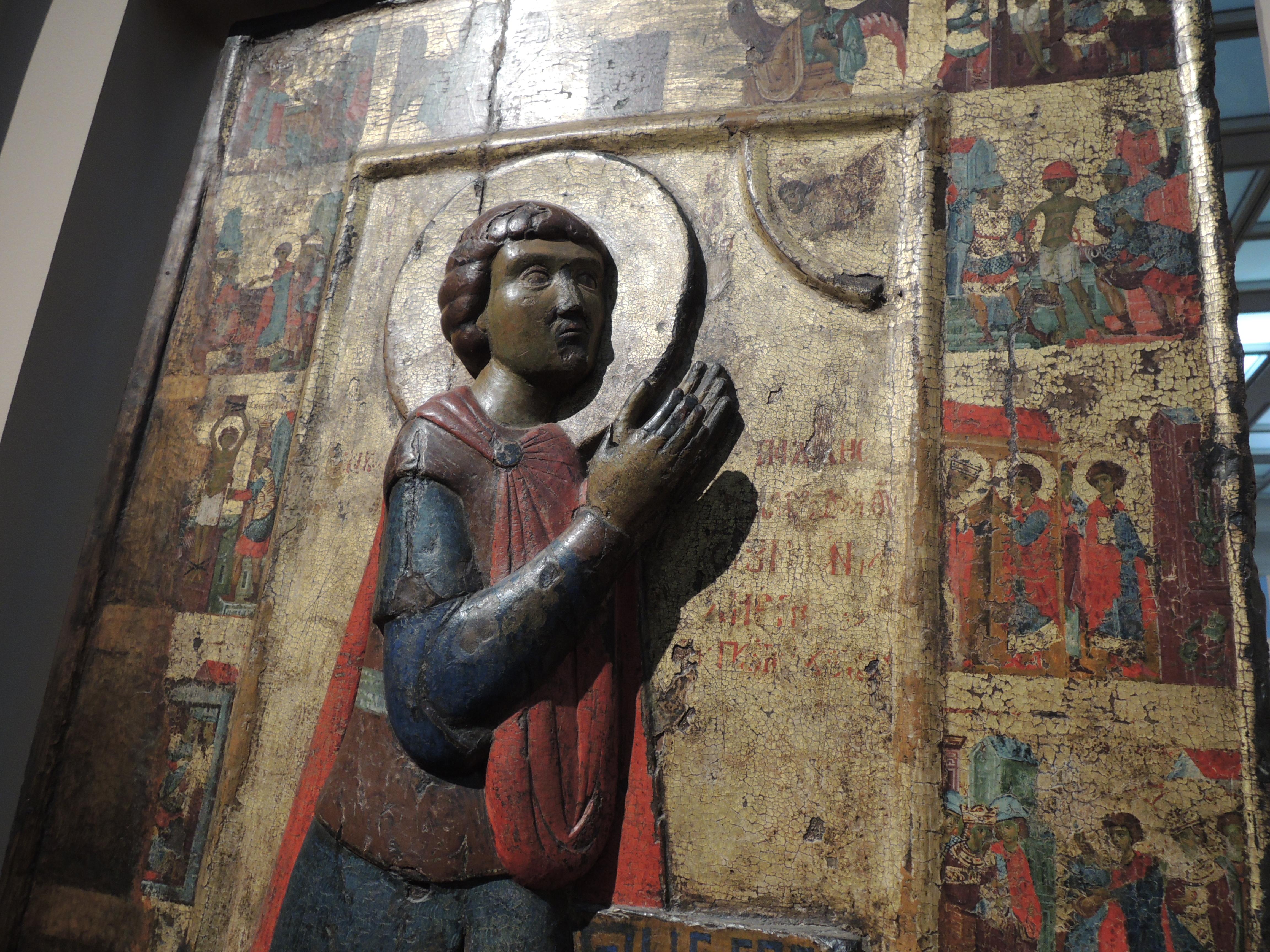 2. Великомученик Георгий со сценами жития. XIII век (деталь).JPG