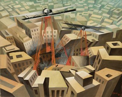 Tullio Crali, Bombardamento urbano, 1935.jpg