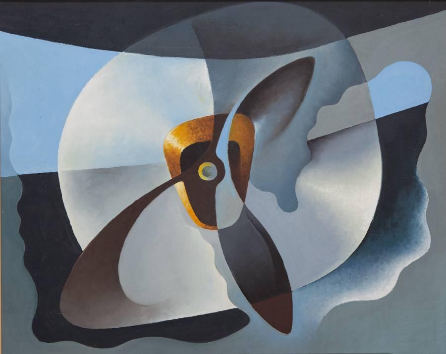 Tullio Crali. Motore in panne (1931).jpg