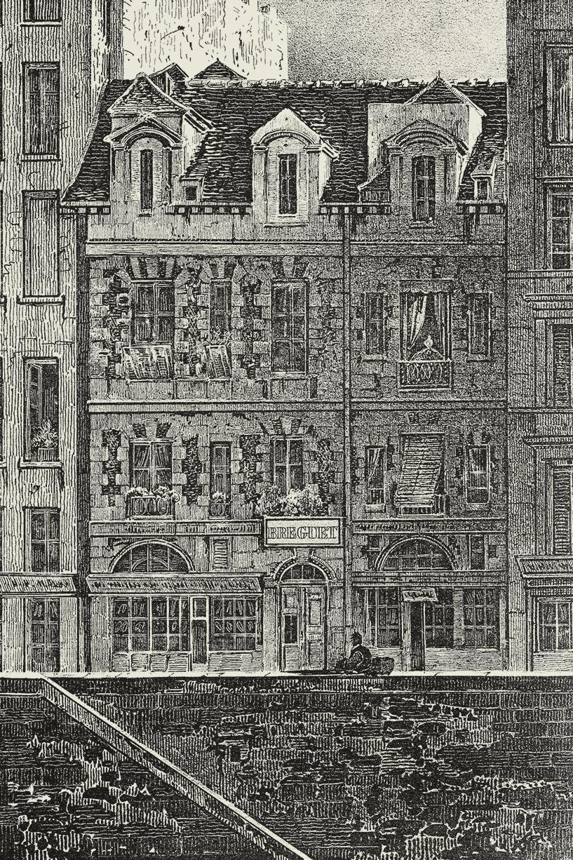 Мастерские Бреге на набережной Ке де л'Орлож на острове Сите в Париже (после 1775 г.). Сайт Breguet.jpg