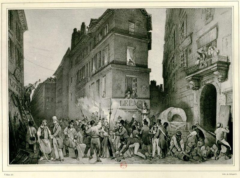 Адам Виктор. Раздача оружия народу у магазина Лепаж во время Июльской революции 1830 года.jpg