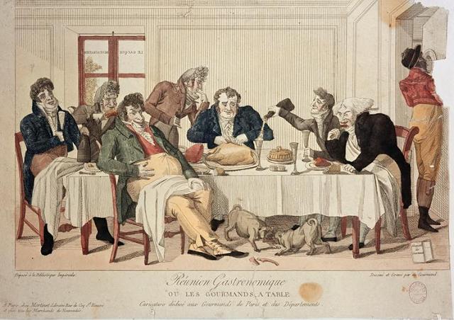 Гурманы за столом, или Гастрономический союз. Карикатура нач. 19 века.png