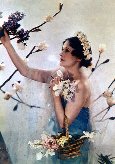 Lady Anne Rhys poses as the goddess Flora.jpg