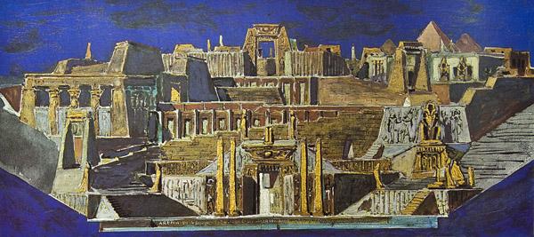 Pino Casarini, Aida atto I. Bozzetto areniano, 1966.jpg