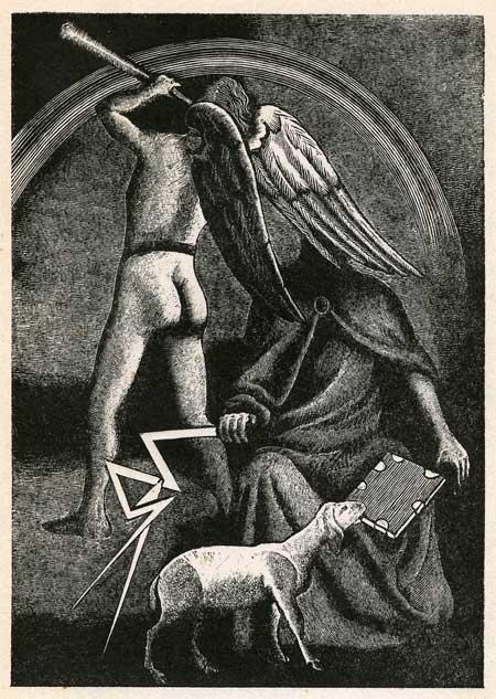 Karl Rössing. 5,7: Das Lamm ist würdig, die Siegel zu öffnen (1946)