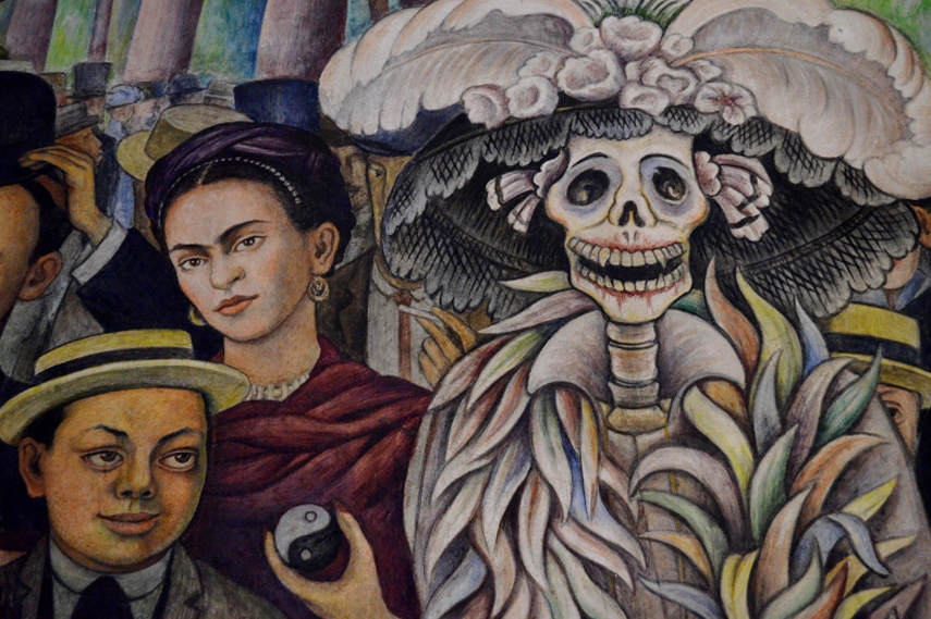 Diego Rivera - Dream of a Sunday Afternoon in Alameda Park 1948 - Detail.jpg