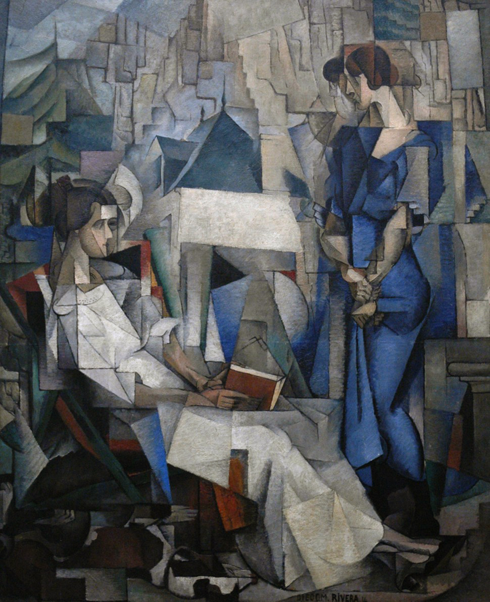 Diego Rivera, 1914, Two Women (Dos Mujeres, portrait of Angelina Beloff and Maria Dolores Bastian ).jpg
