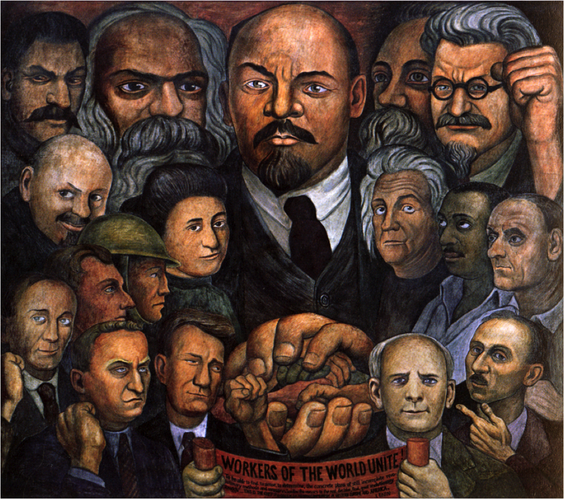 Диего Ривера. Единство рабочих. Портрет Америки. 1933.png