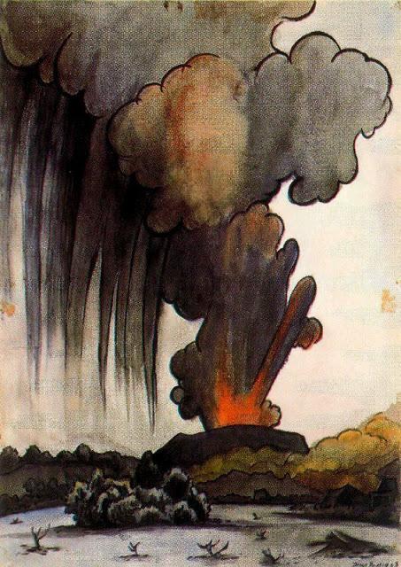 Volcán en erupción 1943.jpg