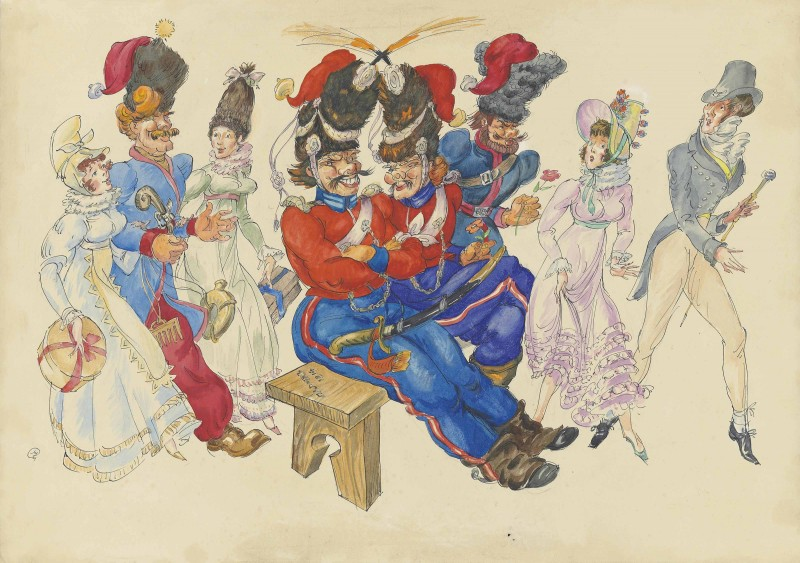 Les Cosaques de Platov à Paris - M.Dobuzhinsky (1926) 03.jpg