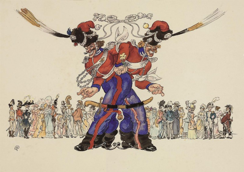 Les Cosaques de Platov à Paris - M.Dobuzhinsky (1926) 08.jpg