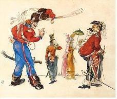 Les Cosaques de Platov à Paris - M.Dobuzhinsky (1926) 12.jpg
