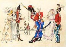 Les Cosaques de Platov à Paris - M.Dobuzhinsky (1926) 14.jpg