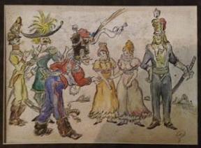 Les Cosaques de Platov à Paris - M.Dobuzhinsky (1926) 16.jpg