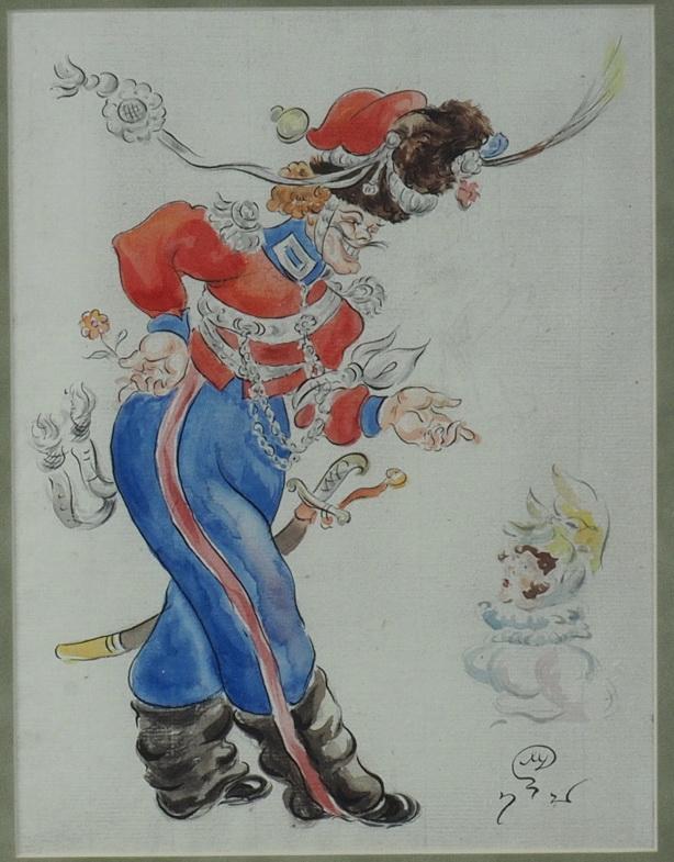 Les Cosaques de Platov à Paris - M.Dobuzhinsky (1926) costume 03.jpg