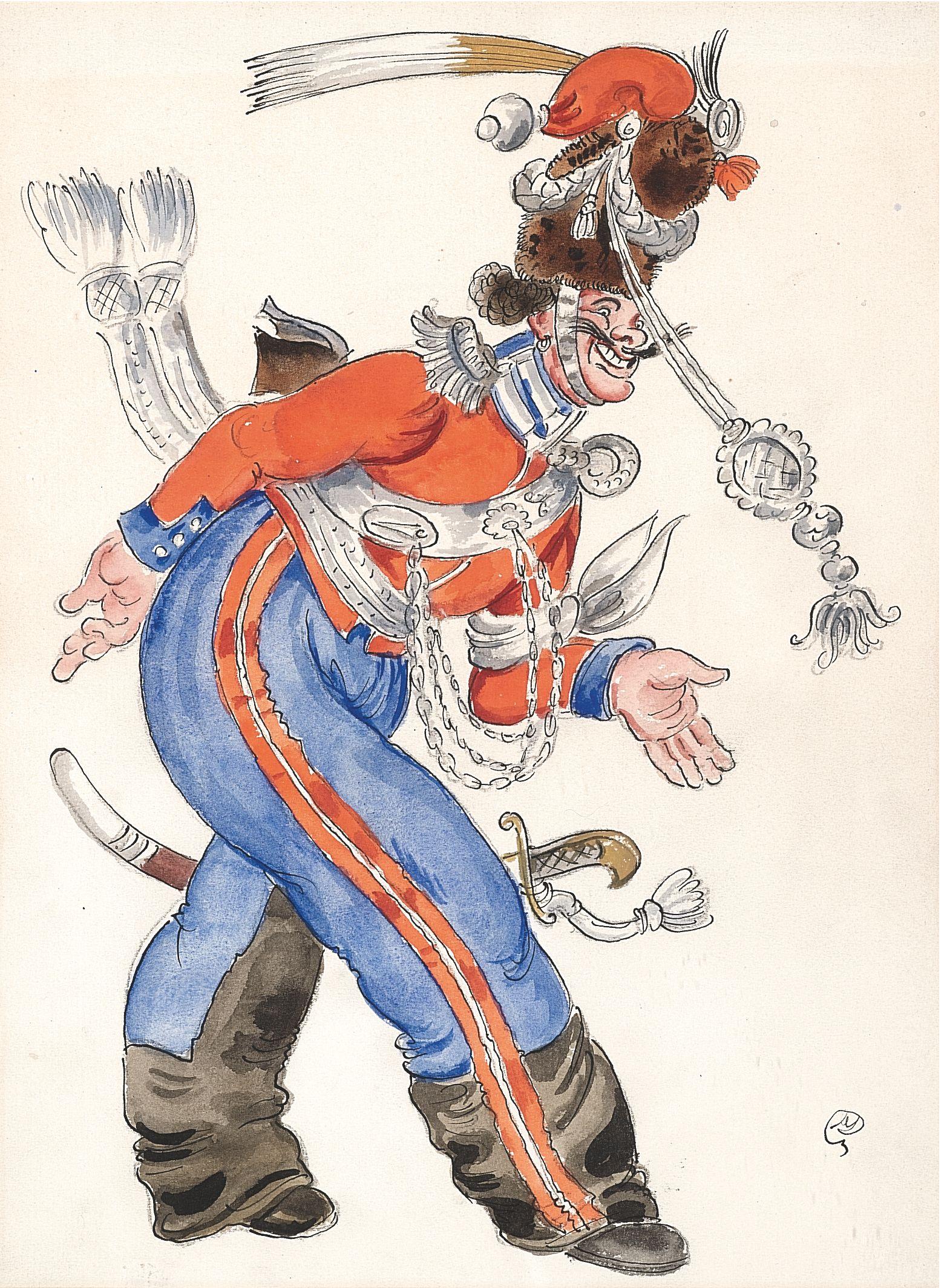 Les Cosaques de Platov à Paris - M.Dobuzhinsky (1926) costume 04.jpg