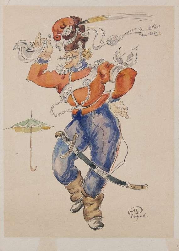 Les Cosaques de Platov à Paris - M.Dobuzhinsky (1926) costume 05.jpg