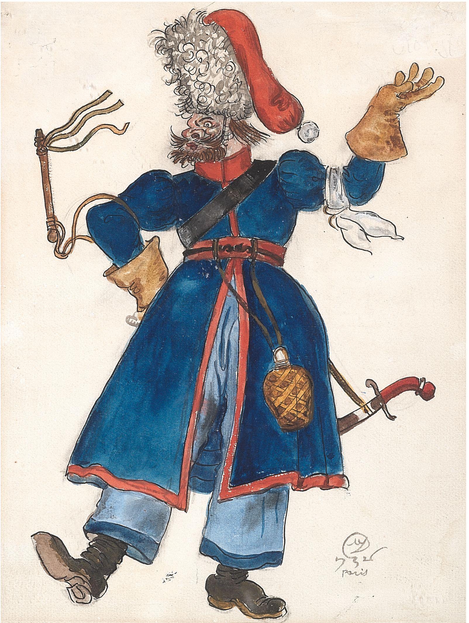 Les Cosaques de Platov à Paris - M.Dobuzhinsky (1926) costume 06.jpg
