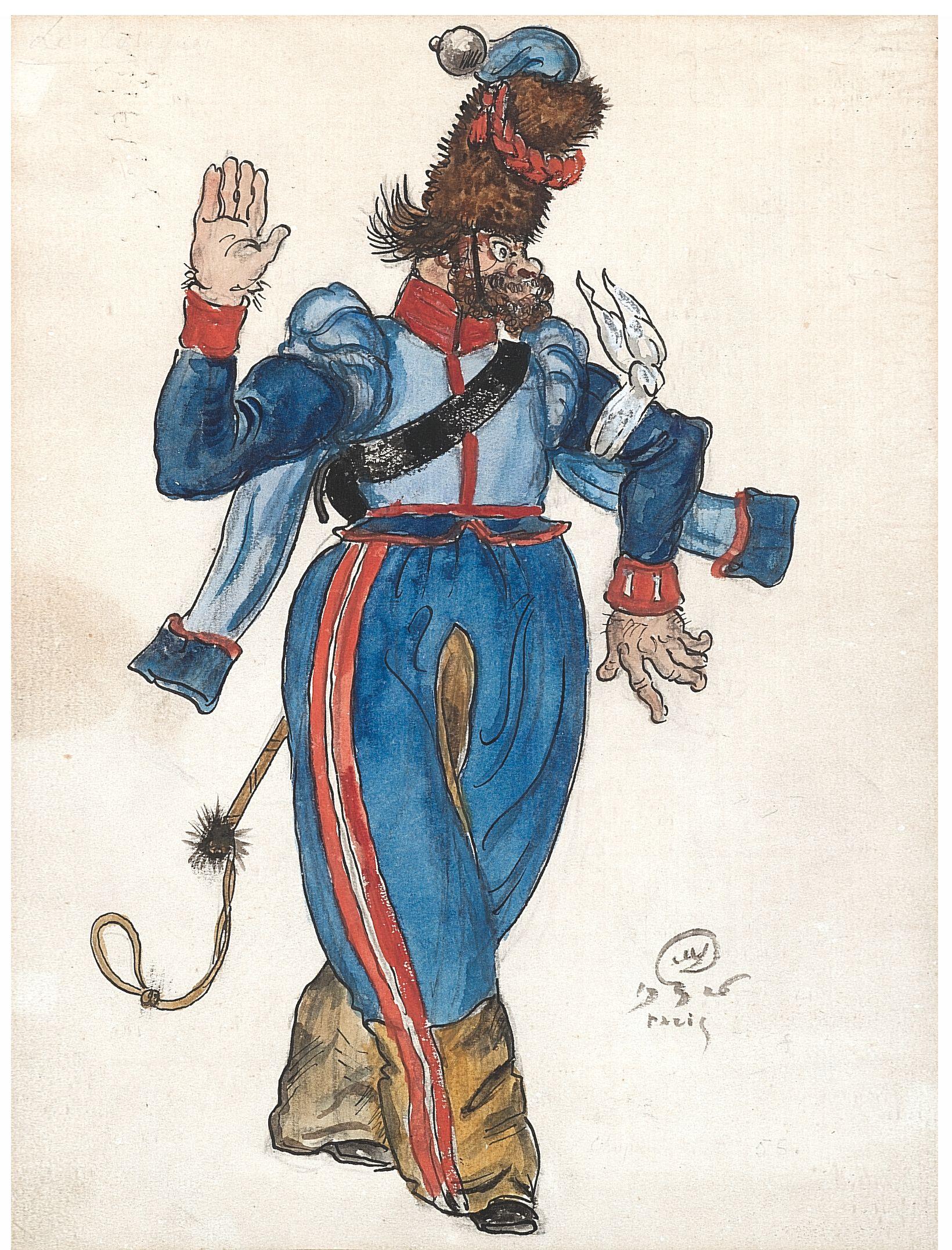Les Cosaques de Platov à Paris - M.Dobuzhinsky (1926) costume 07.jpg