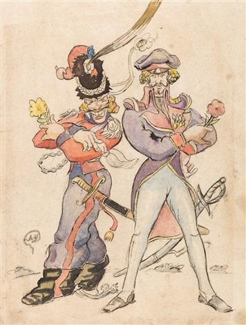 Les Cosaques de Platov à Paris - M.Dobuzhinsky (1926) costume 08.jpg
