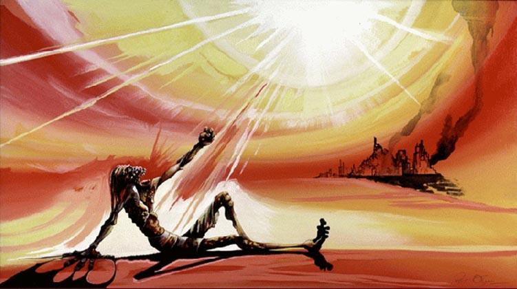 Peter Olsen - revelation 16 8-9 sun scorhed man.jpg