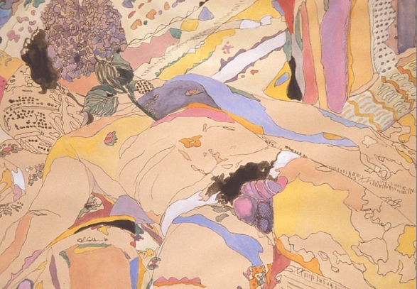 Eunice Golden, Study for Gardens of Delight #1, 1980.png