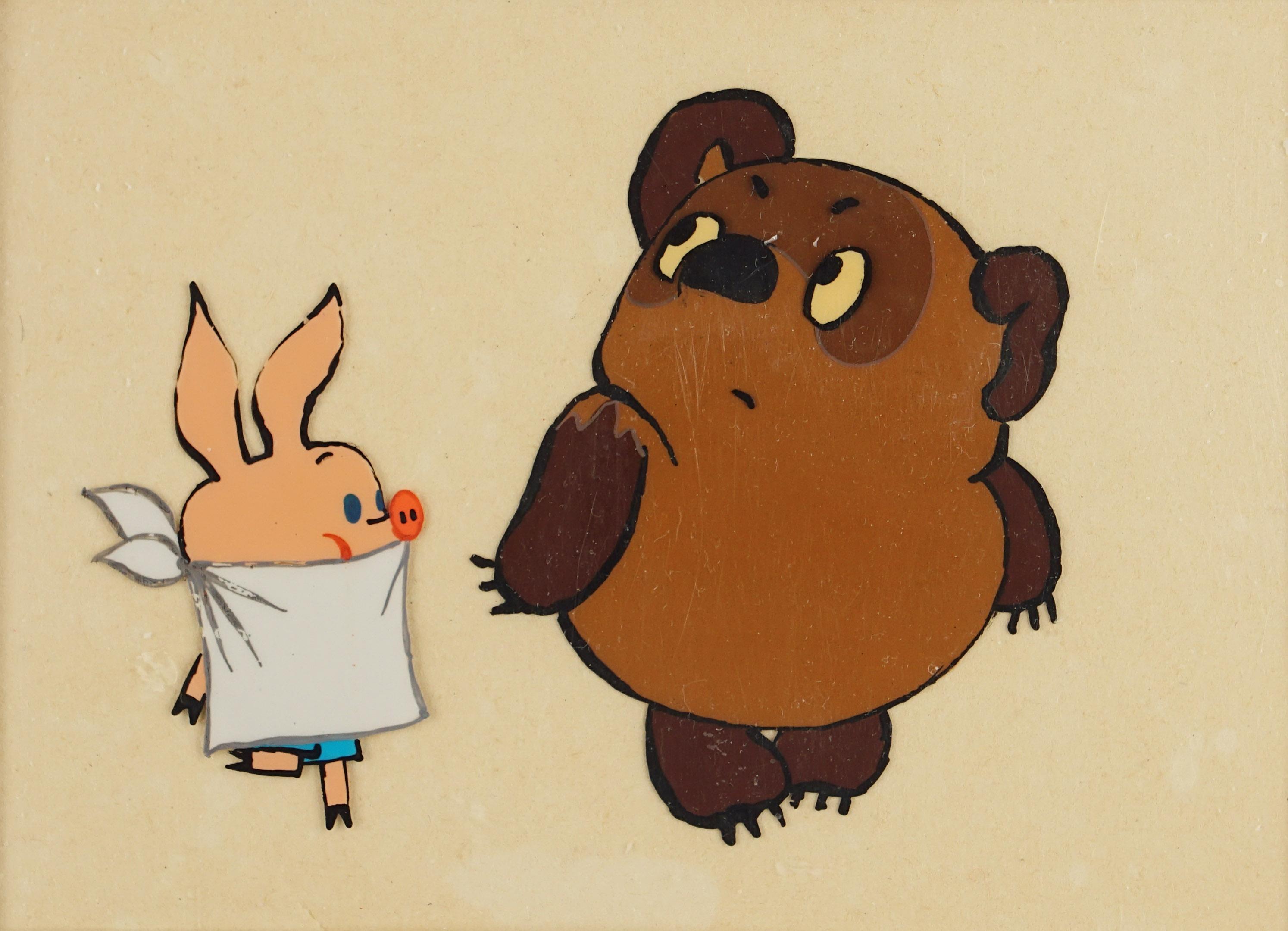 Картинка винни пуха пятачка и кролика виды обезьян