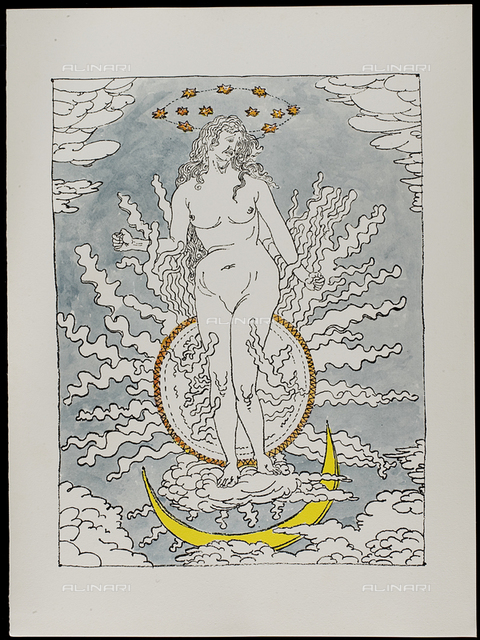 12 Serie dell'Apocalisse - Donna dell'Apocalisse, tav. XII, litografia a colori, De Chirico Giorgio.jpg