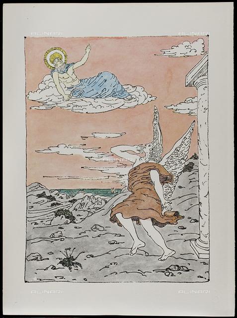 14 Serie dell'Apocalisse, tav. XIV, litografia a colori, De Chirico Giorgio.jpg
