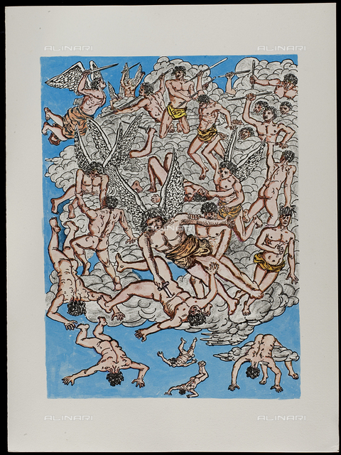 18 Serie dell'Apocalisse, tav. XVIII, litografia a colori, De Chirico Giorgio.jpg