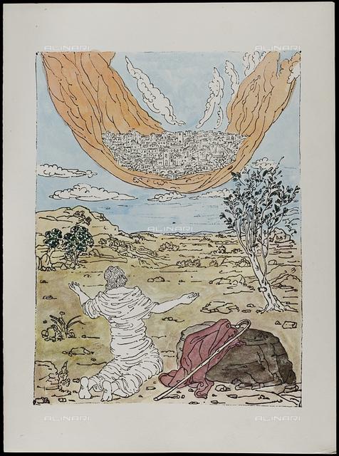 21 Serie dell'Apocalisse, tav. XXI, litografia a colori, De Chirico Giorgio.jpg