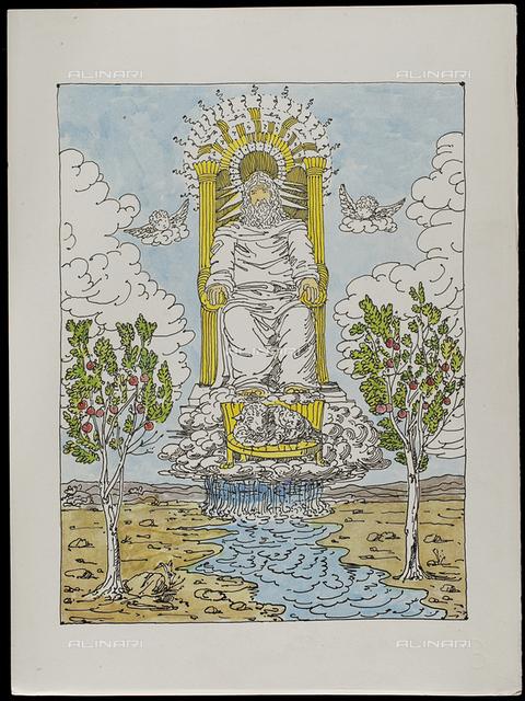 22 Serie dell'Apocalisse, tav. XXII, litografia a colori, De Chirico Giorgio.jpg