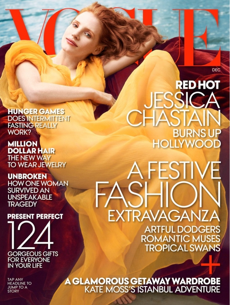 Annie Leibovitz's photograph of Jennifer Chastain  vogue 2013.jpg
